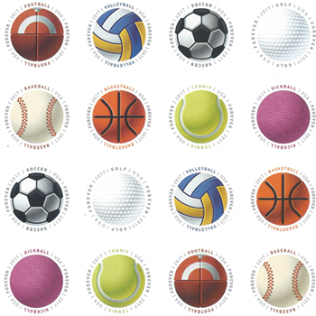 USPS BALL STAMPS